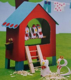 3d knutsel: kippenhok > wat supergaaf!!
