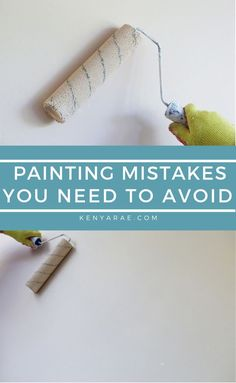 Painting a room is one of the most cost-effective, minimal effort ways to update a room quickly.   But while painting a room may seem like a simple job, there are a variety of things that can go wrong. #howtopaint #budgetfriendlyhomeimprovement#DIYpainting #DIYdecor #homeimprovement  #diytips #painting #homepainting #paintingmistakes
