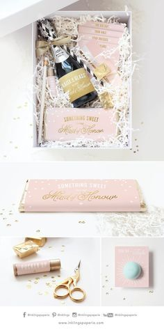 Youre engaged... congratulations! Now its your turn to pop the question. Create your own Bridesmaid/Maid of Honor boxes with this printable