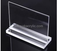 dongguan acrylic holder customized design clear acrylic plastic sign holders with reasonable price and best service please feel free contact