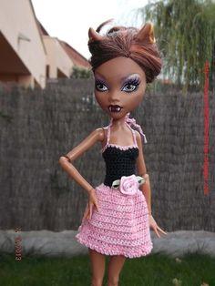 Ropa para muñecos - Ropa Monster High: v56 - hecho a mano por mamimonster en DaWanda