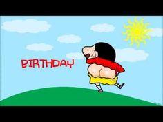 ♥ Cute Funny Shin Chan Birthday Greetings - Hippo Rap [MV Animation] ♥