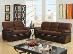 3KD Rider Chocolate Living Room Set - Berrios te da más