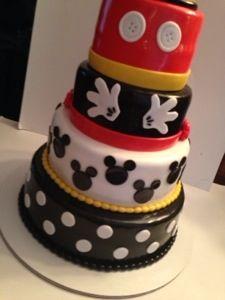 Mickey Mouse Fondant Birthday Cake