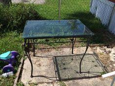 Outdoor/indoor iron table