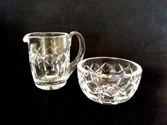 Waterford Crystal, Creamer  Sugar Bowl, Cream Pitcher, Sugar Bowl, Waterford Irish Crystal, Lismore Pattern Waterford Crystal, Wedding Gift by TheVintagePorch on Etsy
