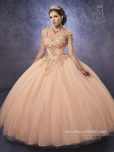 Mary's Bridal Princess Collection Quinceanera Dress Style 4Q491
