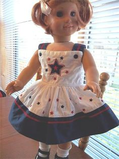 Stars & Stripes Dress for sale at Patches Dolls