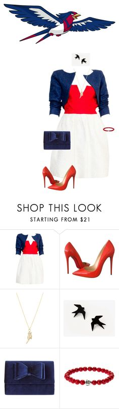 """""""POKEMON - SWELLOW"""" by rebelgeneration ❤ liked on Polyvore featuring Yves Saint Laurent, Christian Louboutin, Sydney Evan and INC International Concepts"""