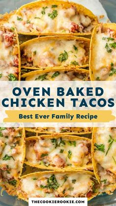 Mexican Dishes, Mexican Food Recipes, Dinner Recipes, Baked Chicken Tacos, Cooking Recipes, Healthy Recipes, Food Dishes, Family Meals, The Best