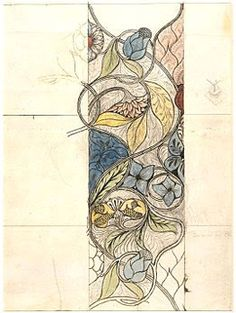 Pre Raphaelite Art: Design for Embroidery, May Morris, about 1885.