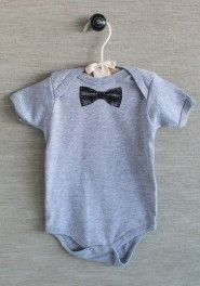 dapper bowtie onesie. Could so freakin' make this in ten minutes.  In a variety of color schemes.