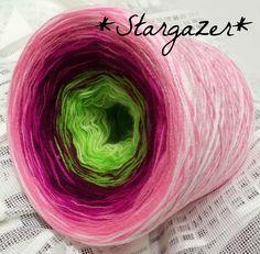 Stargazer: HB-Acryl 3fädig, 6 Farben Vanille Apfelgrün Beere Magenta Blüte Weiss