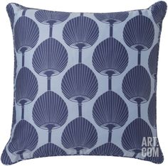 Bali Fan Pillow Poly Fill - Cobalt Home Accessories at Art.com