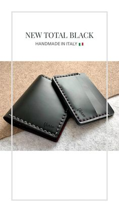 New total black by Verso Collezioni. Brush off wallet in premium tuscan leather. Handmade in italy 🤚🏻🇮🇹 Leather Diy Crafts, Leather Craft, Total Black, Leather Working, Card Wallet, Leather Wallet, Wallets, Card Holder, Italy