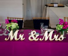 Mr and Mrs Wedding Table Signs for a Ultra Romantic Sweetheart Table Setting | Unique Table Signs and Wedding Decor, Gifts & Accessories at www.ZCreateDesign.com... or ZCreateDesign on Etsy and Amazon Handmade