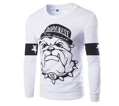 Men's Long Sleeve Tops O-Neck Hoodies Cute Character Design Male Sweatshirts