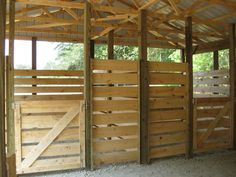 Horse Stall Kits | Wooden stalls in horse barn