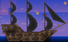 very nice ship design Terraria
