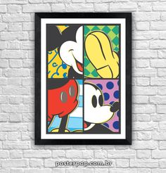 """Poster """"Mickey 4x4"""""""