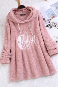 Faux Fur Hoodie, Hooded Sweater, Winter Fashion Casual, Hoodies, Sweatshirts, Types Of Sleeves, Led, Fashion Outfits, Clothes