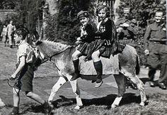 Riding Highland dancers