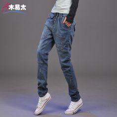 Plus size elastic jeans female pants pencil woman jeans women Classical Vintage Woman Ripped Denim Sexy Jeans Trousers DF-59D