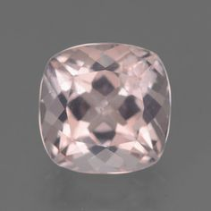Item in Stock and ready to ship == 4.85 ct Light Pink Morganite 10.48 mm x 10.4 mm