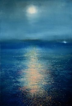 red-lipstick:  Maurice Sapiro aka Maurice L. Sapiro (b. 1932, NJ, USA) - Moonglow, 2014  Paintings: Oil