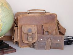 Explorer Travel Gift Set at Scaramanga Leather Luggage Tags, Leather Bag, Back To Uni, Natural Line, The Ultimate Gift, Explore Travel, Vegetable Tanned Leather, You Bag, Travel Bag