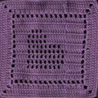 Slanted Heart Square - free crochet pattern by Amelia Beebe at Crochetville Community. Crochet Squares Afghan, Crochet Motifs, Crochet Blocks, Crochet Dishcloths, Granny Square Crochet Pattern, Thread Crochet, Crochet Granny, Crochet Crafts, Crochet Stitches