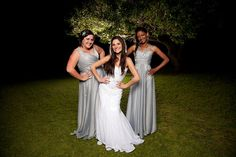 Lee Page and her bridesmaids at Lake de la Vie. Loving the glamorous feel of the photograph taken at night time Port Elizabeth Photographer Eclipse Photography, Glamour Photography, Wedding Photography, Wedding Bridesmaids, Bridesmaid Dresses, Wedding Dresses, Port Elizabeth, Night Time, Fashion