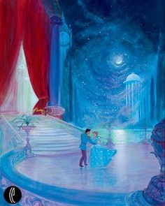 Cinderella and Prince Charming. I want this painting so bad!