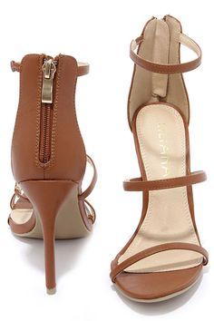 Three Love Tan Dress Sandals at Lulus.com!