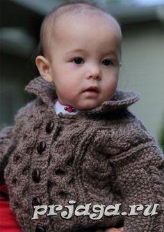 Схема вязания детской кофточки спицами