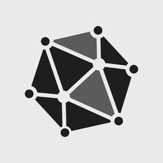 Gray molecule logo vector technology icon design | premium image by rawpixel.com / Kappy Kappy Logo Psd, Vector Technology, White Brand, Business Logo, Brand Identity, Icon Design, Brand Names, Badge, Gray
