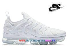 Nike Air VaporMax Plus Unisex Chaussures Pas Cher Price Pour Homme Triple White 924453-100-Nike Boutique de Chaussure Baskets Site Officiel boutiquenike2018.fr