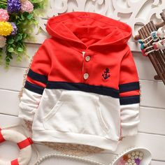 yrs children clothing boys T-shirts fashion spring autumn kids casual patchworking buttons pockets stripe hoodies tee shirt- Hoodie Sweatshirts, Boys Hoodies, Boys T Shirts, Baby Outfits, Kids Outfits, Kids Clothes Boys, Children Clothing, Kids Fashion Boy, Kind Mode