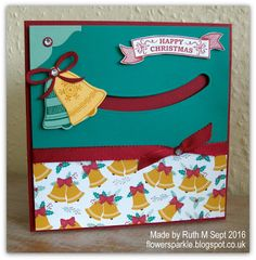 Flower Sparkle: Seasonal Bells Spinner Card