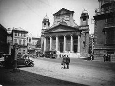 Genova. Chiesa e Piazza della Nunziata (anni 1930-1940)