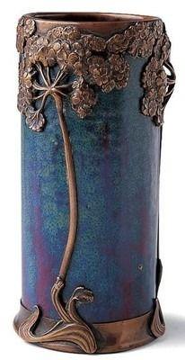 art nouveau vase . Adrien Dalpayrat, France, 1895