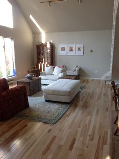 """""""We replaced aged carpet in both the dining room and living room. The wood flooring dramatically improved the appearance of both rooms."""""""