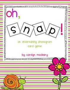 Phonogram SNAP free printable game from the spalding method.