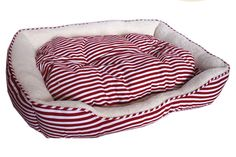 Large Sailar Red Stripe Dog Bed