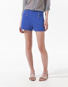 PIQUE SHORTS - Shorts - Woman - ZARA United States