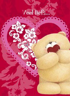 Valentijnskaart - Forever Friends veel liefs