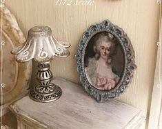 1/12 victorian style 3 x 2 cm picture hand made by Bea dollshouse miniatures - metal