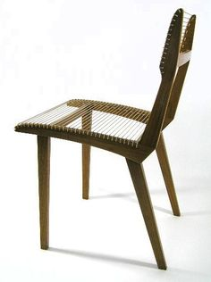 166: VTG - JACQUES GUILLON - CORD CHAIR : Lot 166