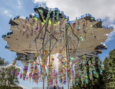 3M Design and Stefano Boeri's kaleidoscopic 'Urban Tree Lounge' installation spark a moment of deep reflection and relaxation