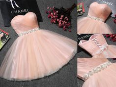 Fashion Short Sweetheart Lace Up Pink Tulle Beaded Cute Homecoming Dresses,Short Homecoming Dresses,Party Dresses sold by on Storenvy Dama Dresses, Quince Dresses, Pink Prom Dresses, Sexy Dresses, Beautiful Dresses, Party Dresses, Prom Gowns, Dress Party, Quinceanera Dresses Short
